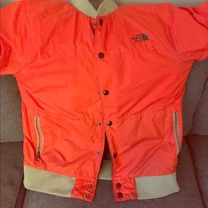 North face double sided jacket